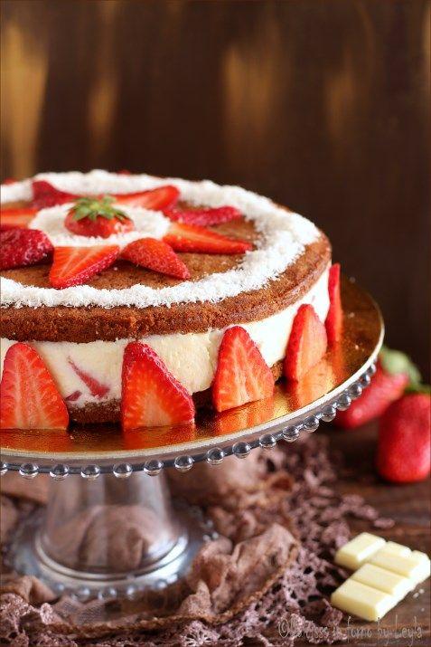 Torta Cremosa Alla Ricotta Cioccolato E Fragole I Tuoi Mi Piace