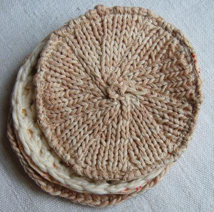 Handmade Gift Idea Knitted Coasters Knit Coaster Diy Knitting