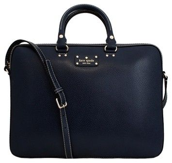 6f1a95ca8 Kate Spade Kate Spade Wellesley Tanner Leather Laptop Bag French Navy NWT