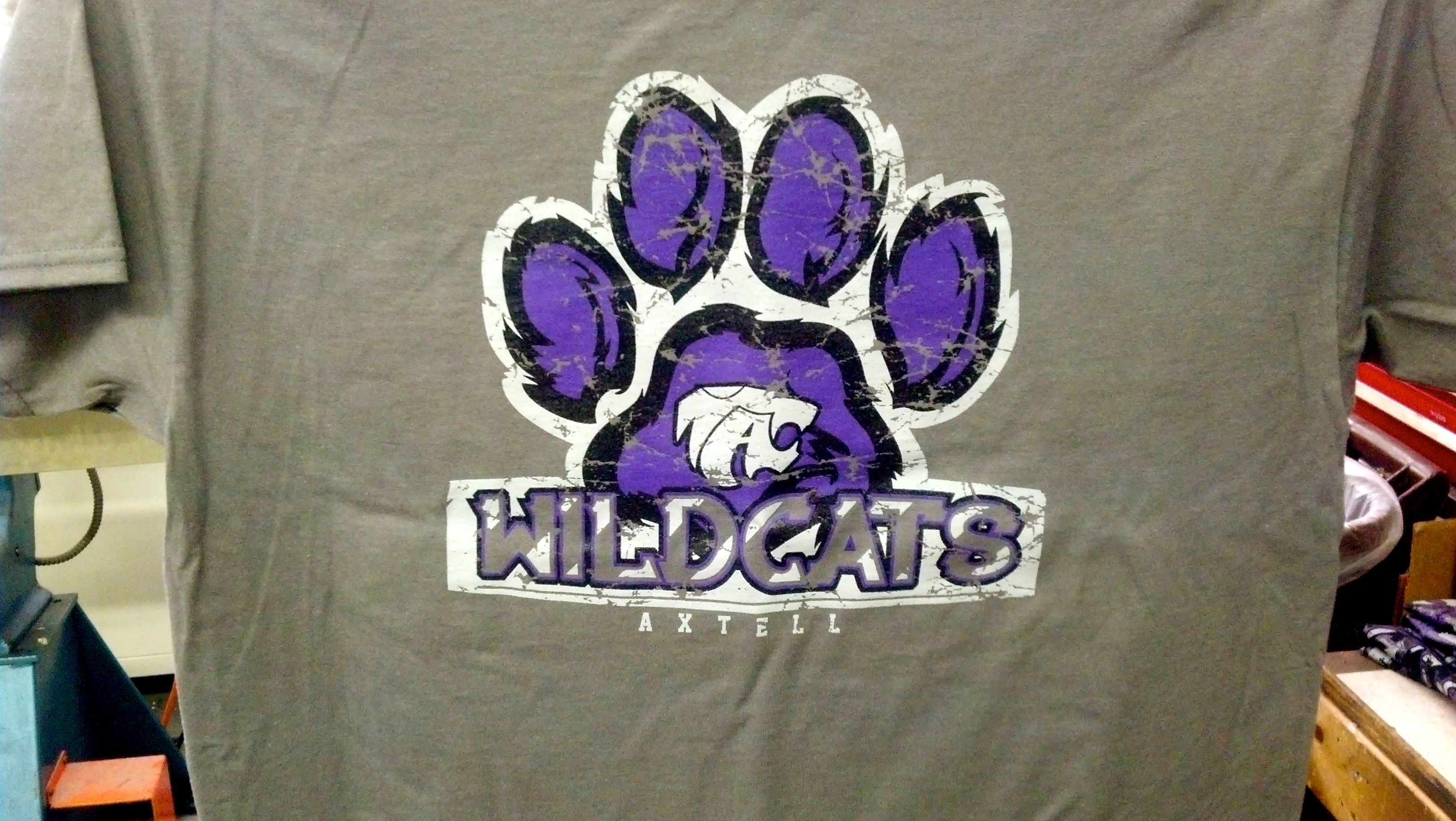 Axtell High School - Wildcats - t-shirt - design - screen print ...