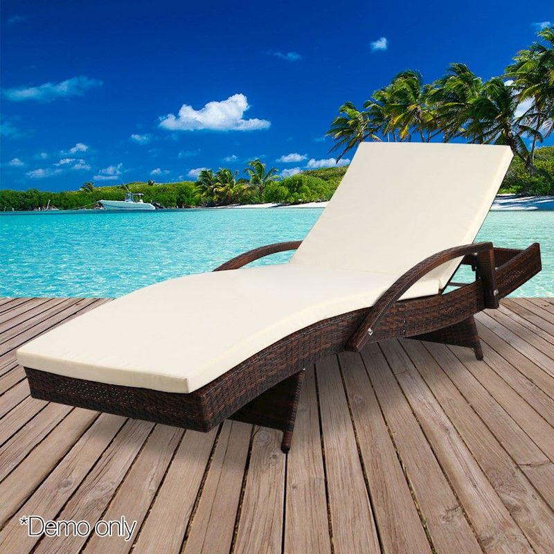 Sun Lounge Outdoor Furniture Rattan Wicker Chair Garden