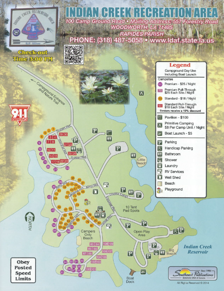 Indian Creek Recreation Area Camping Site Map