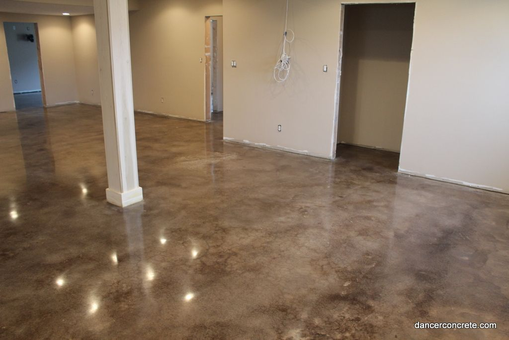 10 dancer concrete design of fort wayne completes stained and polished floor in indianapolis - Cement basement floor ideas ...