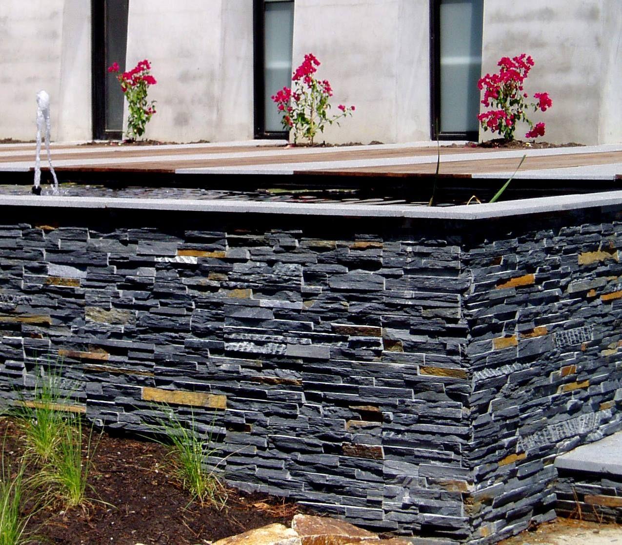 Quieres crear una original jardinera utiliza os paneles for Piedra natural para exterior