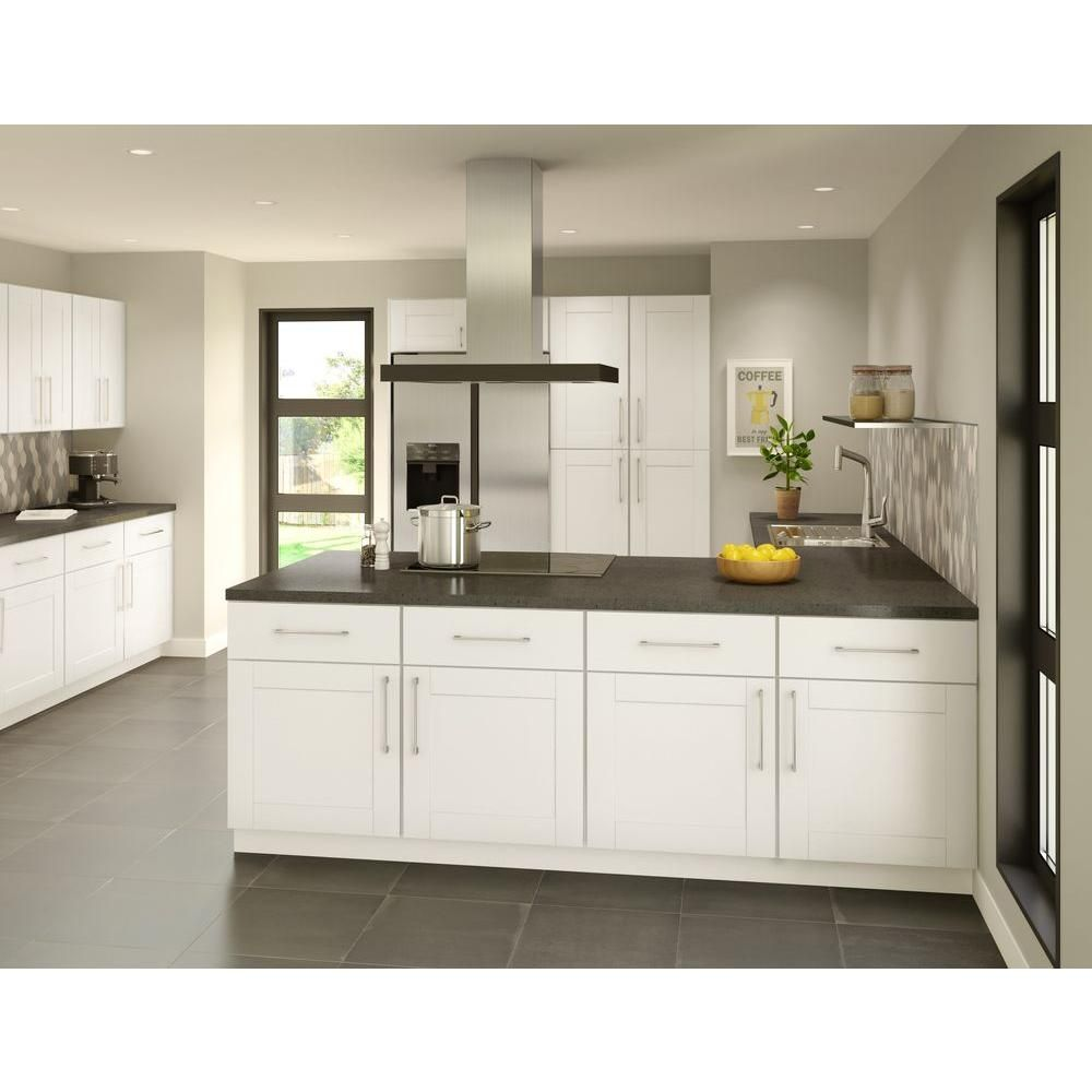 Princeton shaker assembled xx in sink base cabinet in warm