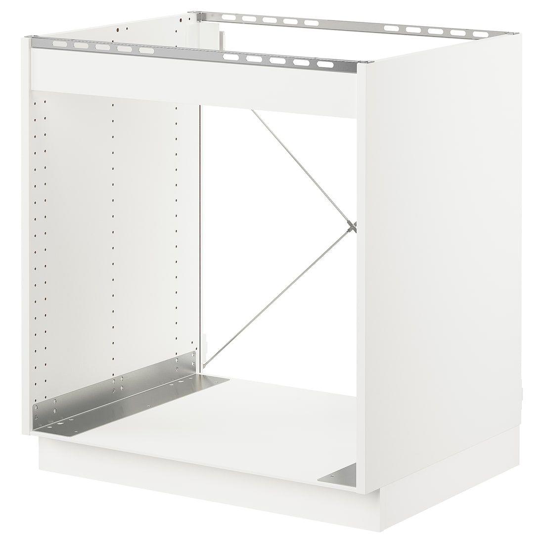 Best Sektion Base Cabinet For Oven White Axstad Matt White 400 x 300
