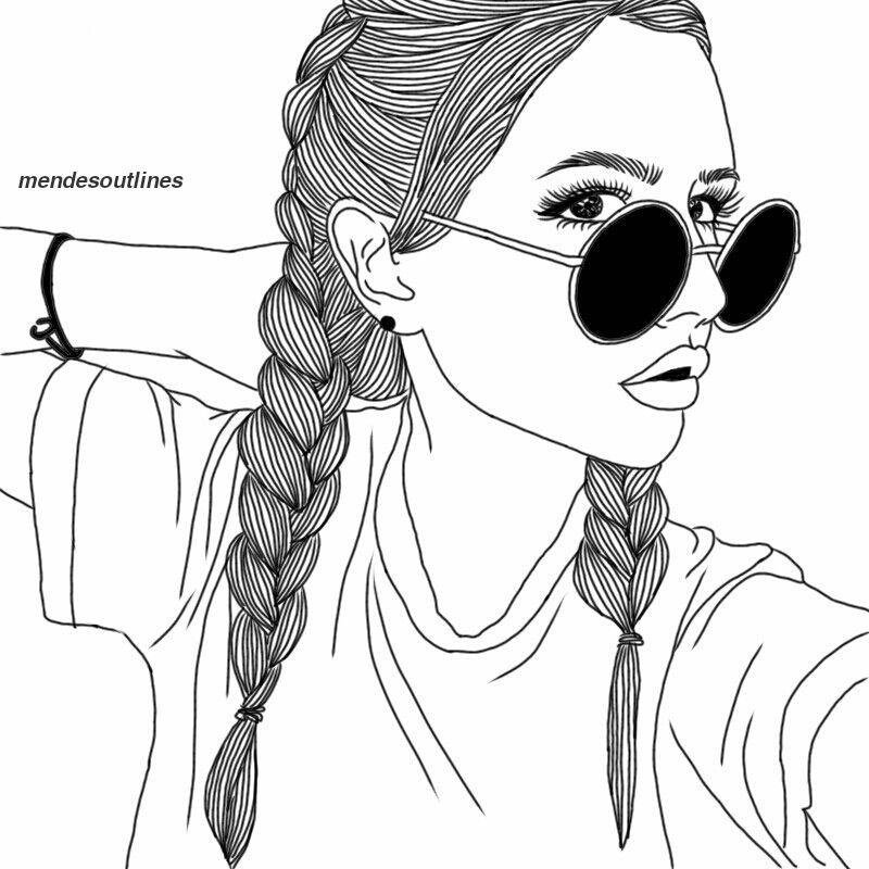 Lit Af Tumblr Girl Drawing