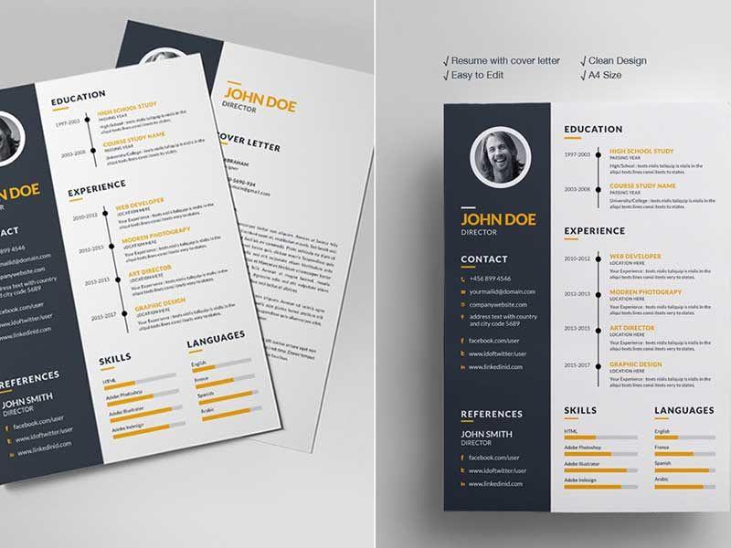 Simple Resume Design Free Download Resume design, Simple