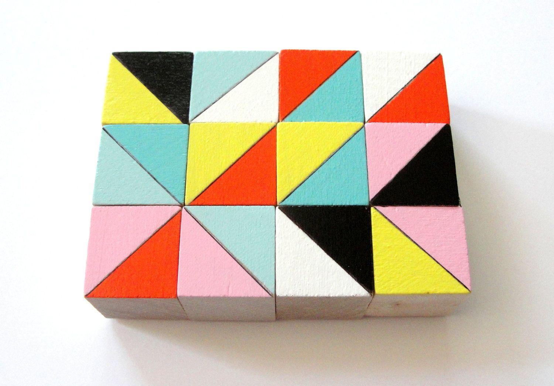 Triangles, Color Block.