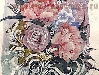 Видео мастер-класс по росписи: Роспись цветов, смешанная техника