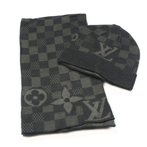 c25309ebf96 Latest Louis Vuitton Hat and Scarf Set Knit wool