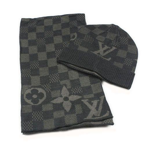 Latest Louis Vuitton Hat And Scarf Set Knit Wool Mens Accessories Fashion Louis Vuitton Hat Mens Fashion Wear