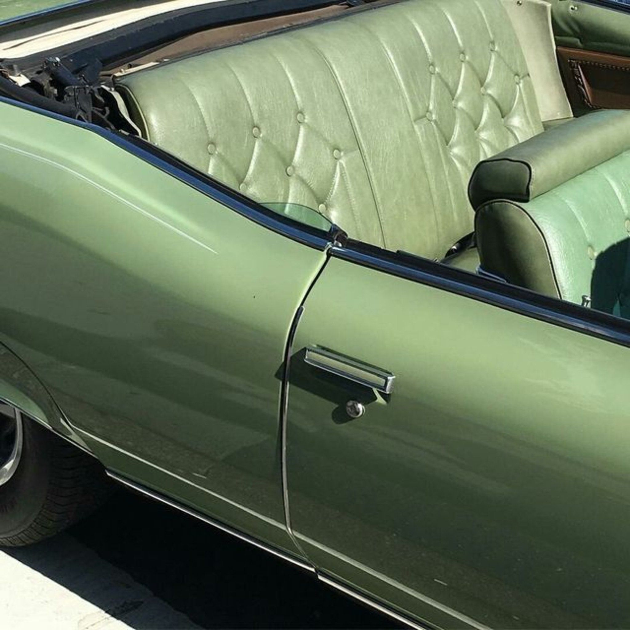 Green Vintage Car Interior