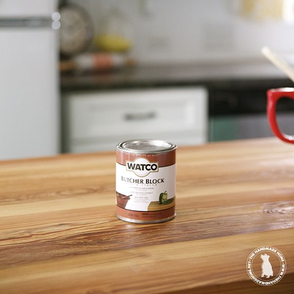 Exceptionnel How To Seal U0026 Stain Wooden Countertops   The Handmade Homethe Handmade Home