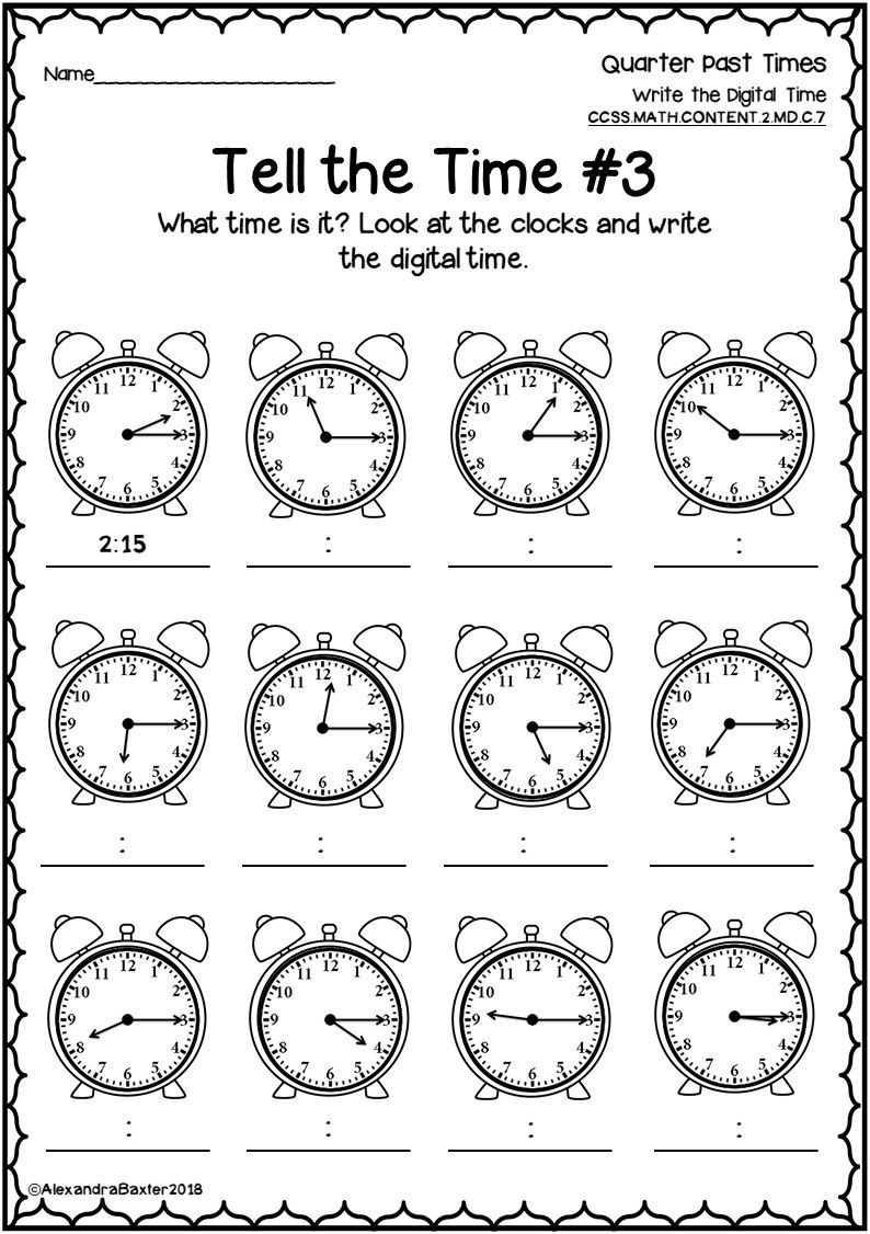 This Packet Is A Selection Of Time Worksheets And Assessments It Is Designed For 2nd Grade Time Worksheets 2nd Grade Math Worksheets 4th Grade Math Worksheets