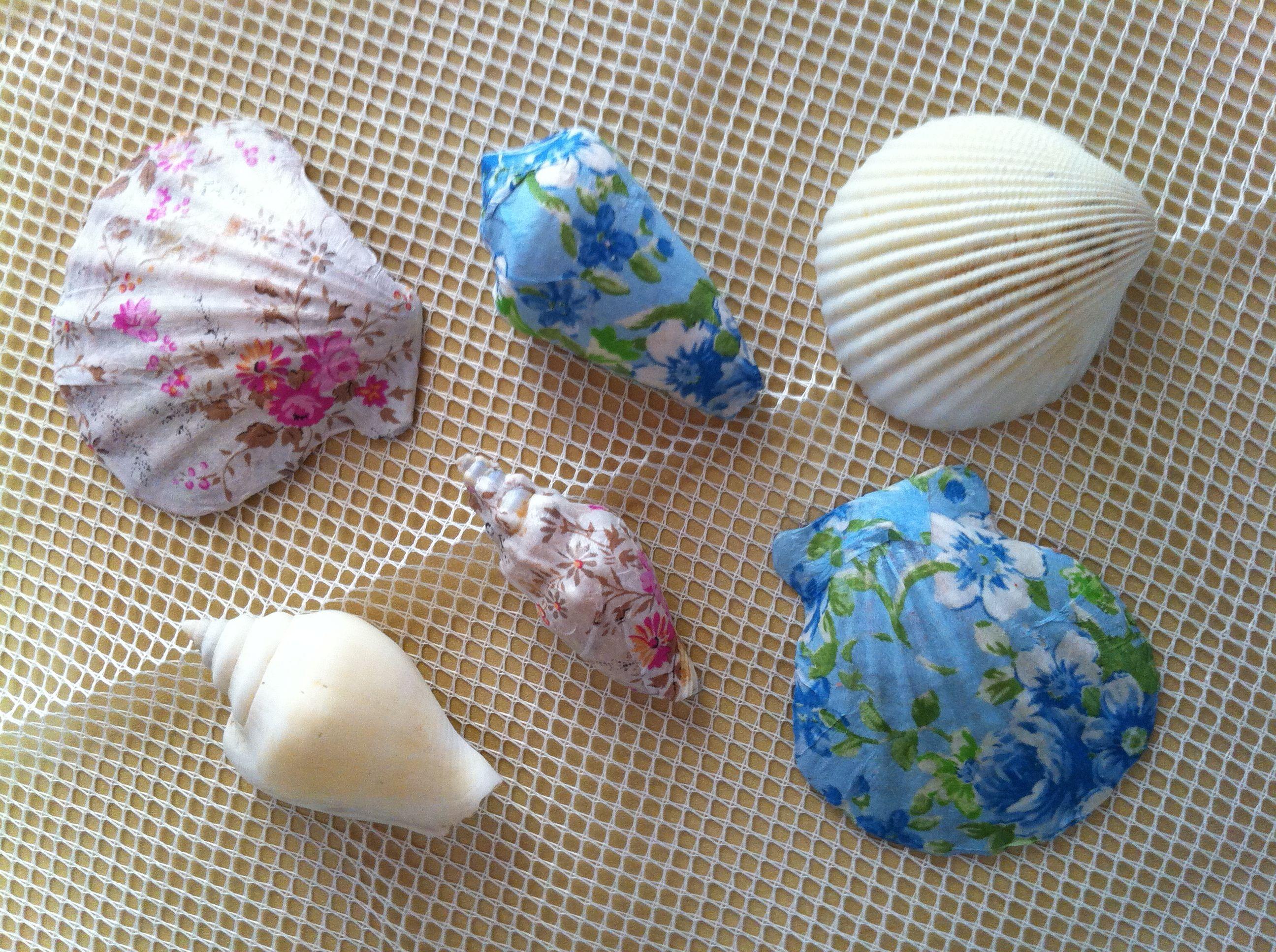 Decoupage Sea Shells