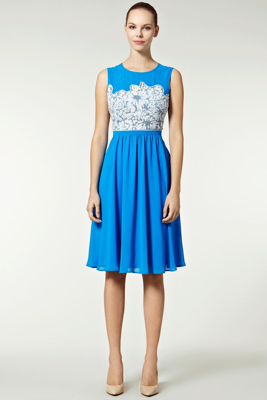 Warehouse Prom Dresses Bright Blue Embellished Bodice Soft Prom