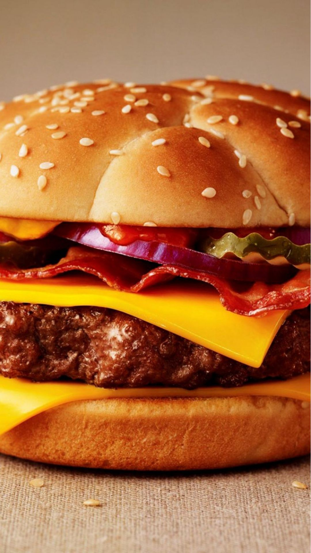Cute Smelly Fast Food Cheeseburger #iPhone #6 #wallpaper