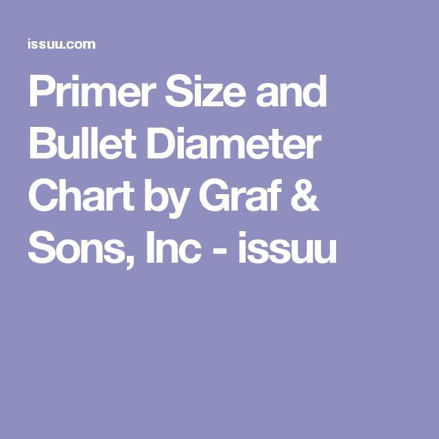 Primer Size And Bullet Diameter Chart Primer Bullet Reloading Bench