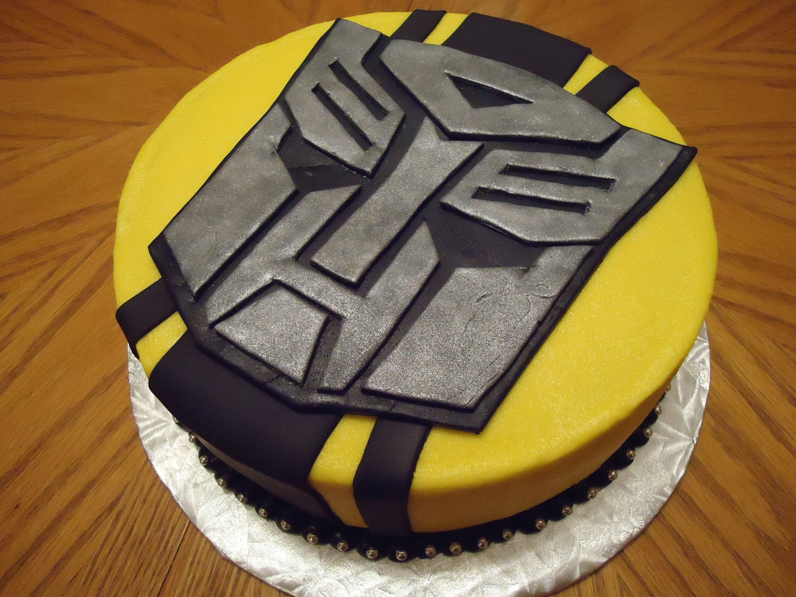 Transformers Bumblebee Cake Buttercream With Fondant Accents