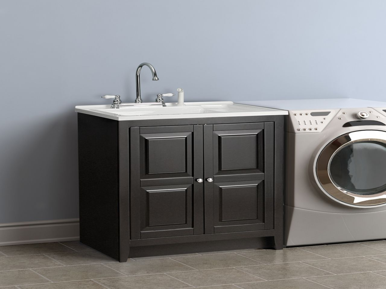 Best stainless steel laundry sink with faucet and storage