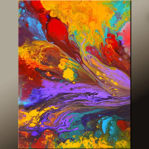 Abstract Canvas Art Painting 18x24 Canvas Contemporary Art Original Paintings by Destiny Womack - dWo - Pure Joy