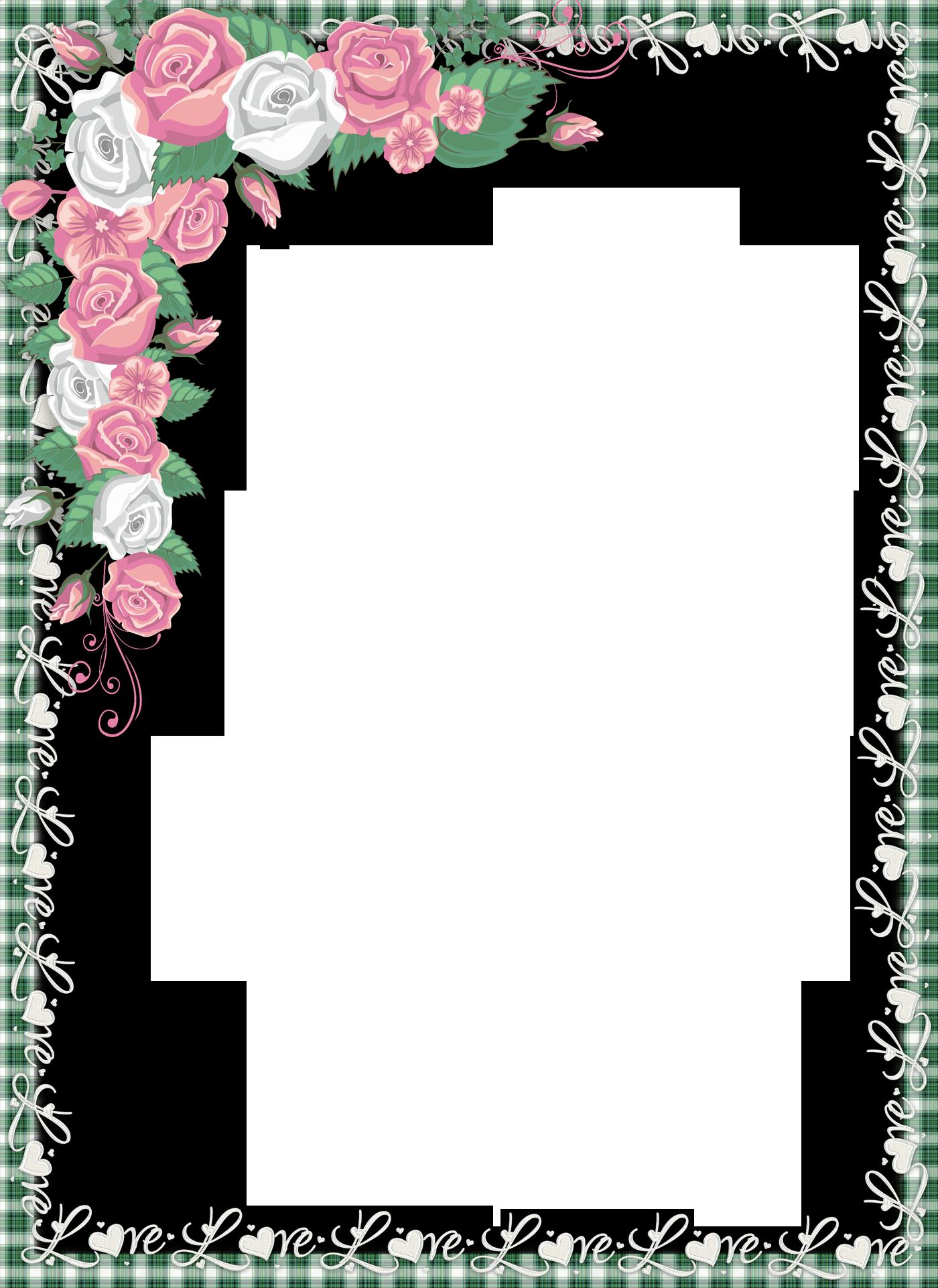 Love png transparent frame with roses floral pinterest for Decoracion de paginas