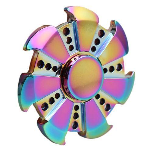 Hand Spinner Finger Fidget Metal EDC Torqbar Spin Focus ADHD Gyro Autism Toy