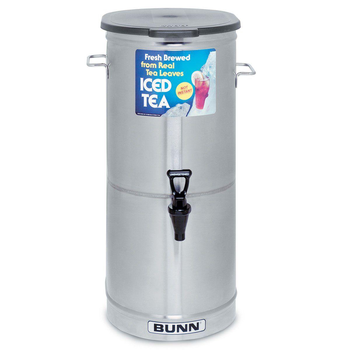 Bunn ice tea dispenser tdo5 5 gallon solid lid 341000001