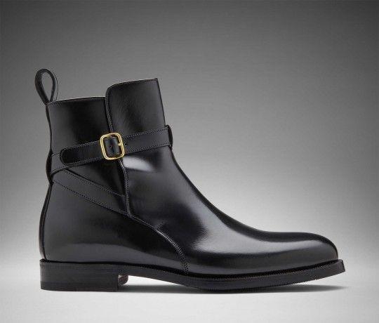 on sale 72f70 8d450 Ermina Nera - Black polished Calf leather Jodhpur   Scarosso ...