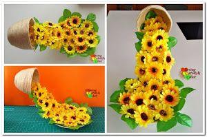 DIY: Cómo hacer una taza flotando con flores | Manualidades