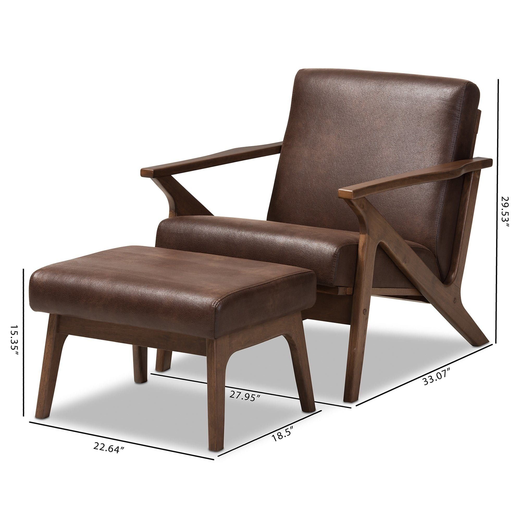 Remarkable Mid Century Lounge Chair And Ottoman Set By Baxton Studio Gmtry Best Dining Table And Chair Ideas Images Gmtryco