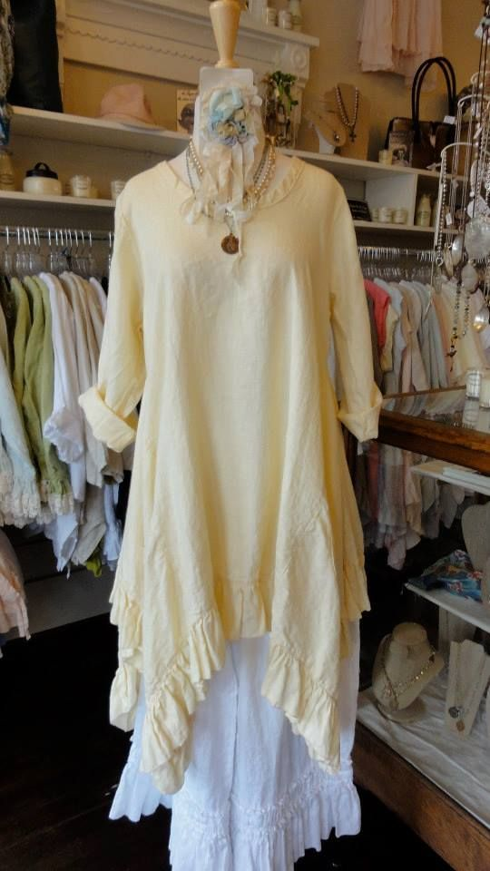 Hearts Desire Linen Flutter Dress with Sleeves in Banana. fb.com/mimibellafinelinenwear