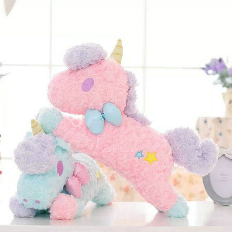 ==> [Free Shipping] Buy Best 55cm Big Size high quality horse Plush Toys pink blue Bow tie Unicorn Plush Toys Baby kids Soft doll birthday Gift Free Shipping Online with LOWEST Price | 32645651327
