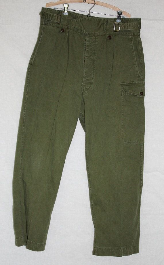 Vintage Military Cargo Pants 1950 s or 1960 s by ilovevintagestuff 6fd1cee7352