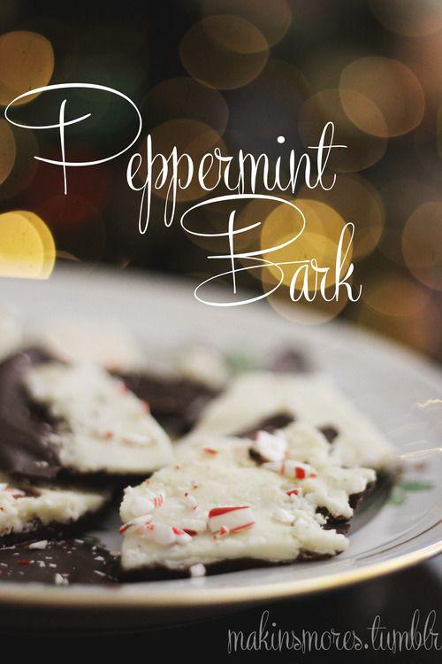 Holiday Peppermint Bark // i heart food