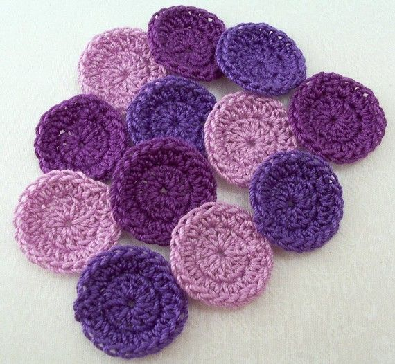 Crocheted Tiny Purple Circles by FineThreads on Etsy