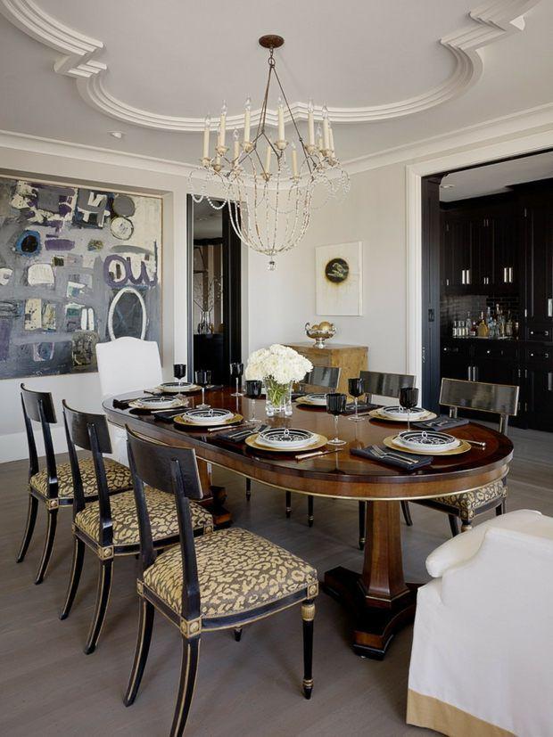 Décoration salle à manger \u2013 107 idées design Pinterest - decoration de salle de sejour