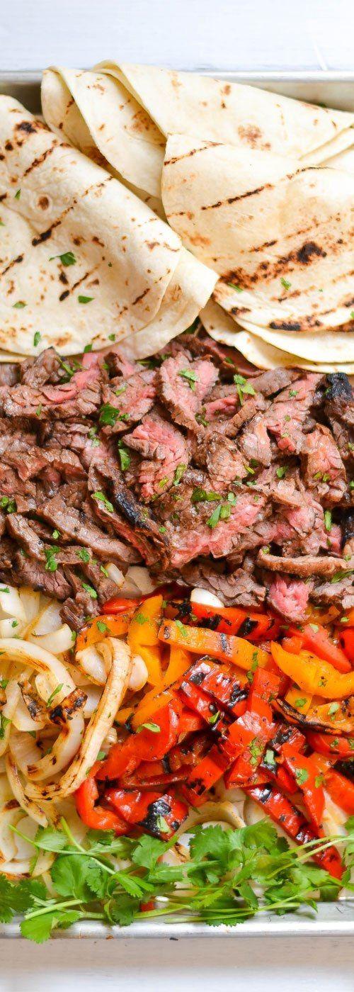 Skirt Steak Fajitas #steakfajitarecipe