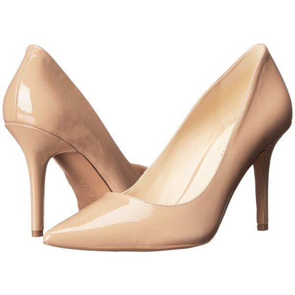 Women's Nine West Jackpot Dark Natural Patent Synthetic Heels (B