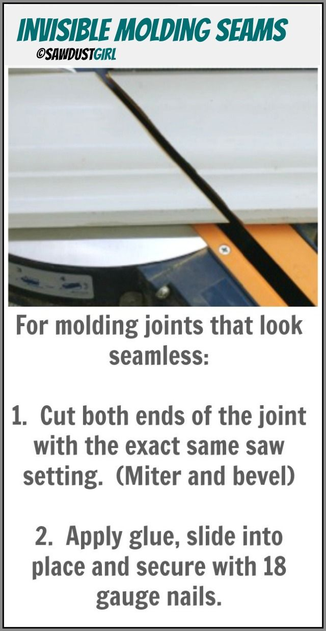 Making Invisible Molding Seams - Scarf Joints - Sawdust Girl