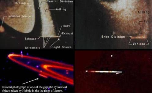 Fotografias da Nasa Captam UFOs Gigantescos (Naves Mãe) nos Anéis de Saturno!!