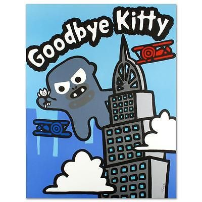 """Goodbye Kitty"" Limited Edition Lithographby Todd Goldman"