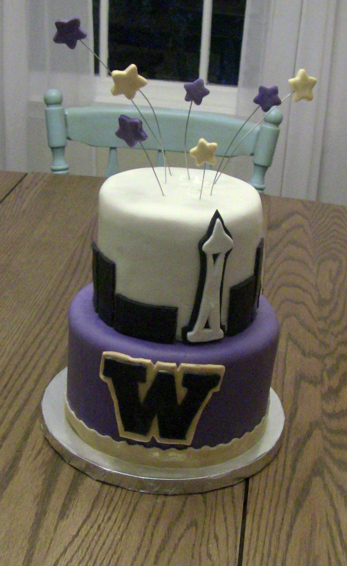 Seattle Cake Uw Cake University Of Washington Cake Space Needle