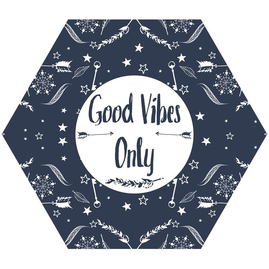 Good Vibes Only Hex Wall Decal