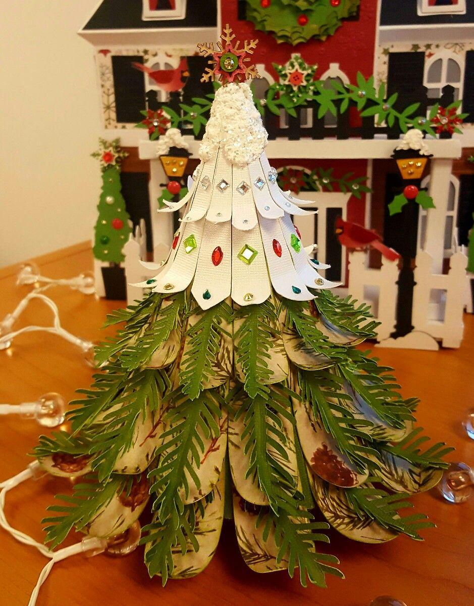 Christmas tree using the Christmas Ornaments kit from