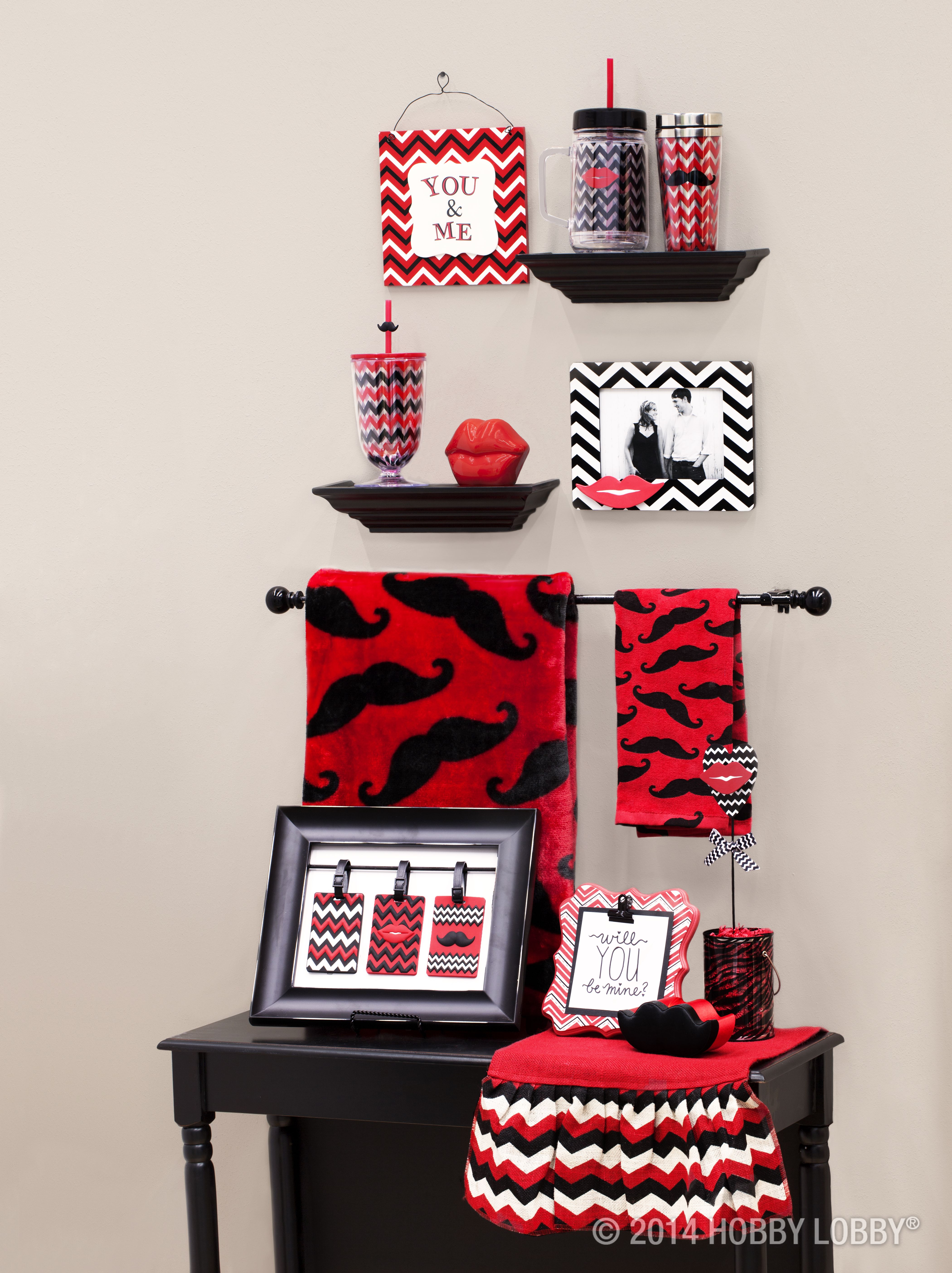 What S Red Black And Chevron All Over Our Kissably Adorable Collection Of Valentine S Day Decor Art Craft Store Crafty Decor Valentine Decorations