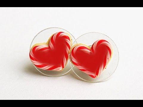 Heart shape Earrings with paper  handicrafts Making tutorials