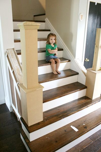 Best Beautiful Budget Stair Remodel From Carpet To Wood Treads 640 x 480