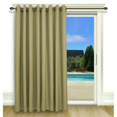 Ricardo Trading Elegance Grommet Thermal Blackout Single Curtain Panel Color: Celadon